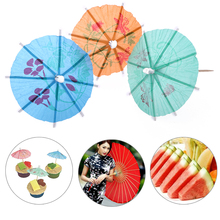 12pcs/Set Mini Tropical Parasol Umbrella Decoration Snack Toothpick Cocktail Party Drinks Cake Decoration Event & Party Supplies