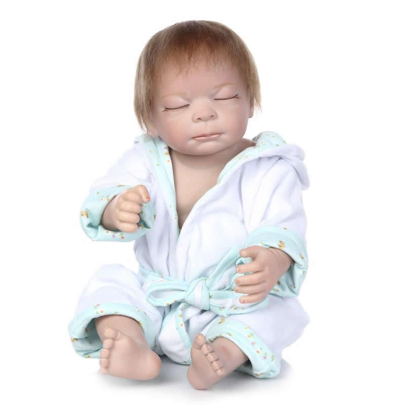 Handmade 20 Inch 50 cm Reborn Babies Doll Full Silicone Vinyl Lifelike Boy Newborn Sleeping Baby Toy Kids Birthday Xmas Gift<br><br>Aliexpress