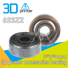 wholesale 10pcs / lot 3D printer accessories 623ZZ bearing pulley bearing guide wheel extruder dedicated Free shipping