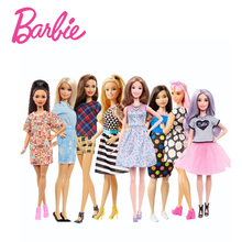 Barbie Fashion Dolls 12 Models Style Dress Up Beautiful Little Girl Toy For Birthday Gift Barbie Boneca FBR37
