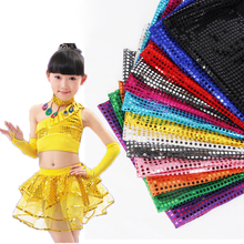 12 Colors 3m/lot 1 Meter width Sequined Cloth Curtain Fabric Decorative Material Fabrics Shiny Dance Performance Textile