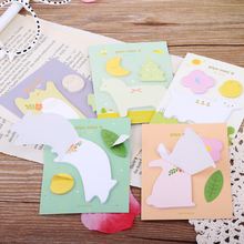 kawaii stationery papelaria material escolar school supplies For Girls Gifts Cartoon paper sticker animals memo pad sticky notes