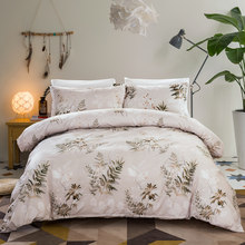 Leaves Bedding Set Double Queen King Size Duvet Cover Quilt Cover Bed Cover Pillow Cases Home Textiles Beddingclothes 3pcs New(China)