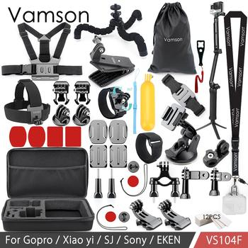 Vamson Accessories Set for Eken H9R For Gopro Hero 6 5 4S Mount Selfie stick Kit