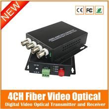 2016 4ch Fiber Video Converter+1ch Reverse Rs485 Data Digital Optical Transmitter And Receiver For Cctv Surveillance System