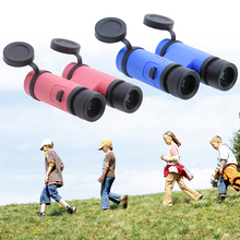 Newest 8x30 Children Binoculars Colored Toy Students Telescope Kids Plastic Glass Lens Telescope High Quality Pink Blue(China)