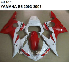 MOTOMARTS Red white ABS plastic fairing for Yamaha fairings YZFR6 2003 2004 2005 bodywork parts fairing kit YZF R6 03 04 05 BC40