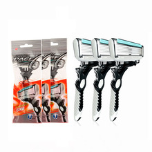 3pcs/lot Shaver Men 6-Blades Razor Blade for Men Shaving DORCO with Retail Package(China)