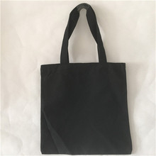 YILE Cotton Canvas Shopping Tote Shoulder Carrying Bag Eco Reusable Bag Black Vintage Style NEW L002