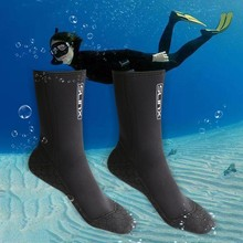 3mm Swimming Boots Scuba Swimwear Wetsuit Neoprene Surf Diving Socks Anti Scratches Warmer Snorkeling Socks(China)