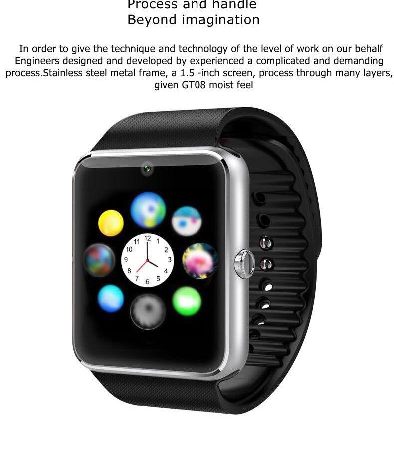 Original Smart Watch GT08 Clock Sim Card Push Message Connectivity For Android IOS Phone PK Q18 DZ09 Smartwatch (14)