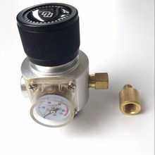 "Homebrew Gas Regulator  90PSI CO2 Mini regulator   3/8"" and 5/8"" thread"