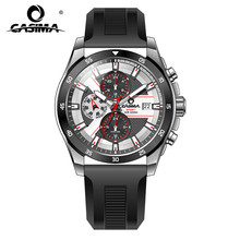 Fashion Luxury brand watches men casual charm cool sport mens quartz wrist watch calendar silicone waterproof 100mCASIMA 8311(China)