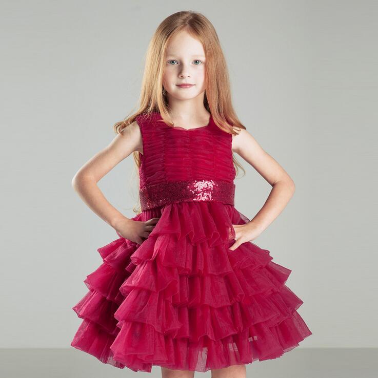 high quality girls bridesmaid pageant dress kids princess party dresses children clothing roupas infantis menina<br>
