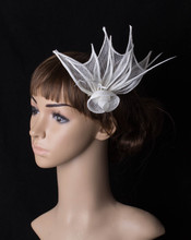 High quality multiple color sinamay base fascinator headwear occasion cocktail bridal  accessories millinery cocktail hat MYQ021