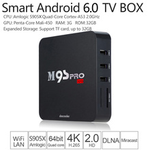 M9S-PRO Smart Android 6.0 TV Box Amlogic S905 Quad 16.0 UHD 4K 3G / 32G Mini PC WiFi H.265 HD Media Player EU Plug(China)