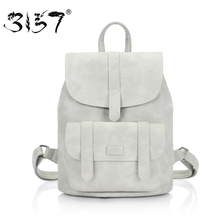 3157 fashion women leather backpack teengaers girls famous designer cute school bags ladies female backpacks - Official Store store