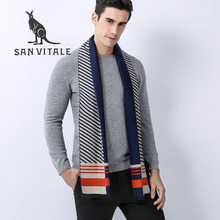 Scarves Men'S Scarf Winter Warm Cashmere Ponchos And Capes Wool Designer Cotton Casual Clothing Accessories Apparel Cashmere(China)