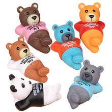 6pcs /lot 5cm PVC Teddy Bear Action Figure Toys, Beautiful Teddy Bear Figure, Anime Brinquedos, Toys For Children, Gift Toys(China)
