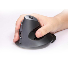 Free shipping Delux wireless 2.4Ghz M618 M618GL ergonomics vertical mouse for PC computer laptop drop with manual