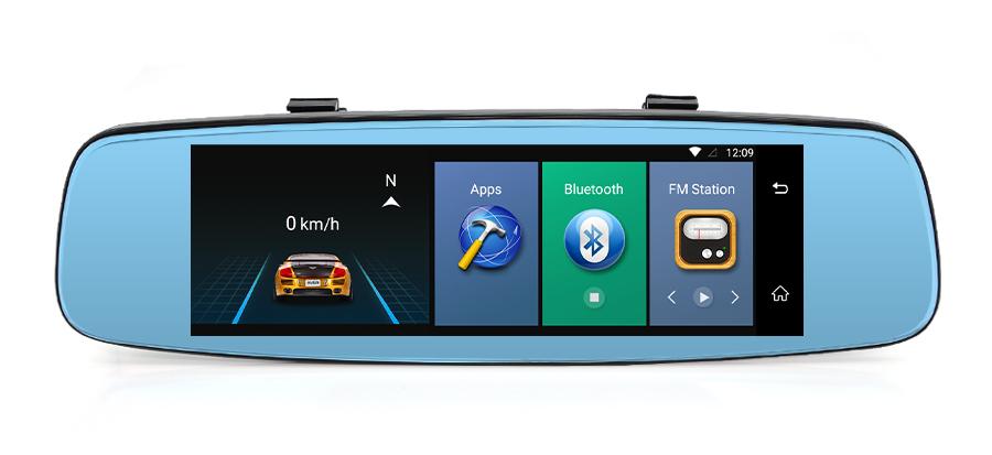 "Junsun 4G ADAS Car DVR Camera Digital Video recorder mirror 7.86"" Android 5.1 with two cameras dash cam Registrar black box 16GB 54"