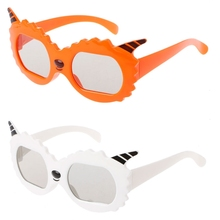 OOTDTY Kids Sheep Frame Circular Polarized Passive 3D Glasses For RealD 3D Cinema TV(China)