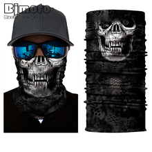 Amazing Outdoor Motorcycle Face Mask Skull Mask Scarf Bandana Headbands Fashion Masque Moto Balaclava Neck Scarves(China)