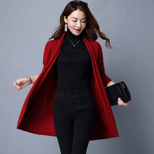 4 Colors Solid Long Sleeve cashmere Knitted Cardigan Scarf collar Fall Slim 2016 Spring Autumn Casual Women Sweater open stitch