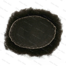 Fast Ship High Quality Full Swiss Lace Natural Black Afro Hair Mens Toupee H009