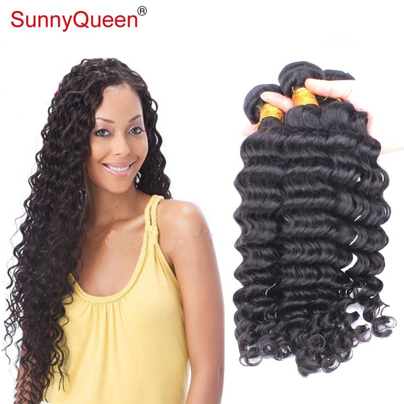 Sunny Queen Hair Products 6A 3PCS Ethiopian Virgin Hair Weave Deep Wave Human Remy Hair Bundles Ethiopian Deep Wave Hair Bundles<br><br>Aliexpress