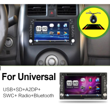 2 din universal Car Radio monitor Auto DVD Player USB GPS In dash Car PC Stereo video steering RDS Head Unit+Free Camera For VW(China)
