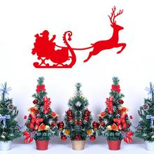 merry Christmas present wall stickers vinyl reindeer wall decals Christmas festival home decoration Xmas15 Free Shipping(China)
