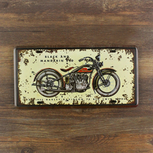 "SYF-A177 Retro License plates Letter sign ""  motorcycle "" vintage metal tin signs garage painting plaque Wall art craft 15x30cm"