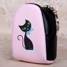 PU leather cartoon women's mini coin purse small wallet kids money pouch key bag bolso bolsa carteira feminina for girls boys