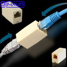 4pcs/lot Universal RJ45 Connector 10Pcs RJ45 Cat5e Straight Network Cable Ethernet LAN Coupler Joiner Female To Female Connector(China)