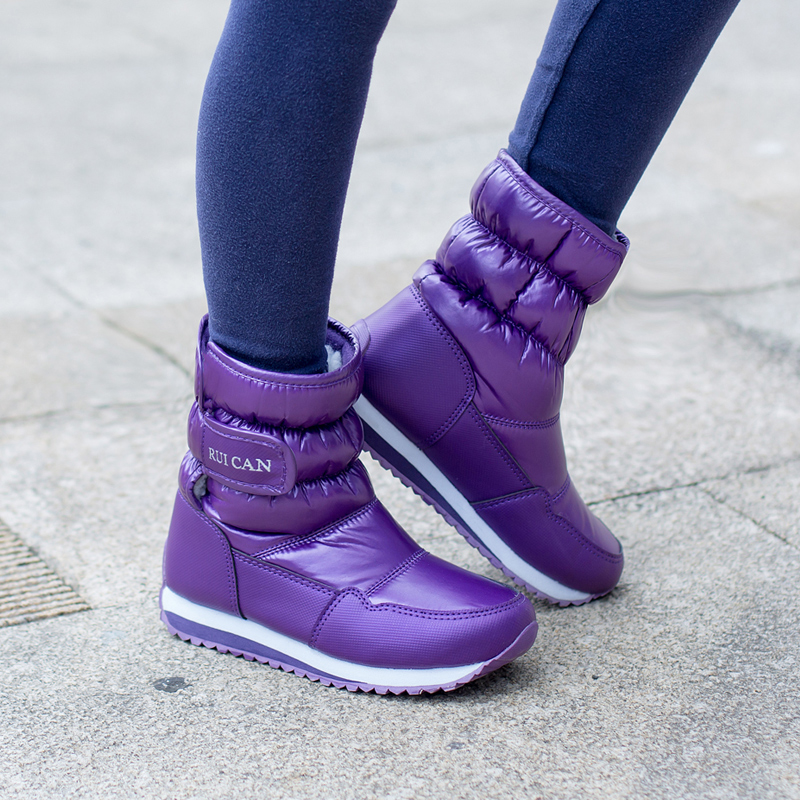 Waterproof shoes 2017 children  boots boys girls with velvet short boots  in winter<br>