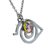 12pcs/lot Anime Naruto Necklace steampunk Hikage Sign necklace Ninja Naruto Glass dome pendant necklace jewelry keyring