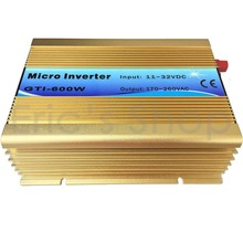 500W Grid Tie Inverter DC11V-32V to AC110V Pure Sine Wave Inverter Use For 18V Panel 36cells 50Hz/60Hz AUTO Golden Color