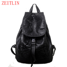 New 2016 High-grade Leather Backpacks Designer Washed Leather Bag Backpack Retro Korean Backpack Shoulder Bag for Girls H907