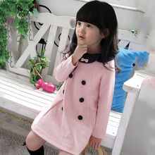 Girls Kids Dress Top Dress Long Sleeve 2-7 Y Baby Party 1-Piece Clothes Lovely