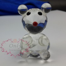 Free Shipping 12PCS/LOT Crystal Collection Lovely Mouse Figurines Souvenir Baby Shower Favors Gifts(China)