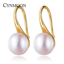 Natural Freshwater Hook Pearl Earrings Fashion 925 Sterling Silver Pearl Jewelry For Women White Pink Purple pearl earrings