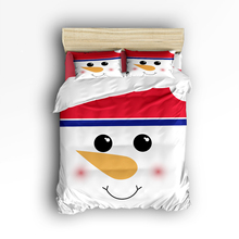 CHARMHOME New Bedroom Bedding Set 4pcs Christmas Snowman Cartoon Cute Pattern for Adult Kids Duvet Cover Bed Sheet Pillowcases(China)