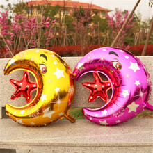 2pcs 60*50cm Baby Moon Star Foil Air Toy Balloons Wedding Children Birthday Party Decorations Supplies Balloons 6ZSH040(China)