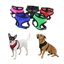 1PC Adjustable Breathable Nylon Mesh Dog Vest Harness Cats Puppy Neck Narnesses Pets Collars Style Chest Strap Leash Thick Type
