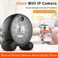 Clock Wifi 960P IP Camera Indoor WiFi Camera 1.3MP Network Home Security System Cloud CCTV IR Night Vision Surveillance Camera