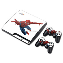 Decal Skin For PS3 Slim Console Cover For Playstaion 3 Skin Stickers + 2Pcs Controller Protective Skins(China)