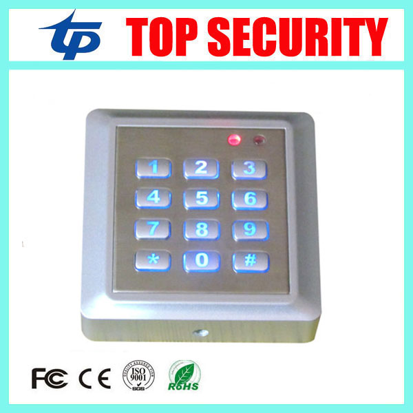 10pcs a lot good quality metal plate RFID card door access control board single door 125KHZ EM card standalone access controller<br>