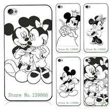 Retail 10pcs Mickey Mouse sketch design  Luxury Black Hard Case Cover For Iphone 5 5S