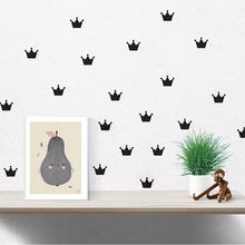 Free shipping 15PCS/Set Crown Wall Sticker Princess Baby Girls Wall Decor Pattern Wall Paste Sticker For Kid's Bedroom Decorate